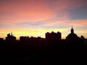 amanhecer na cidade