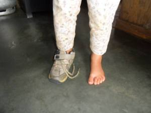 pés descalço