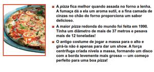 pizza e texto